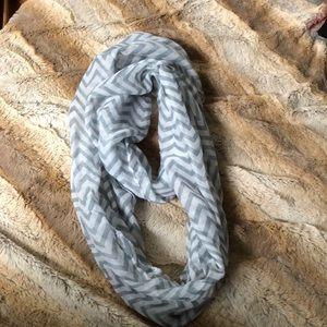 Thin Grey Infinity Scarf